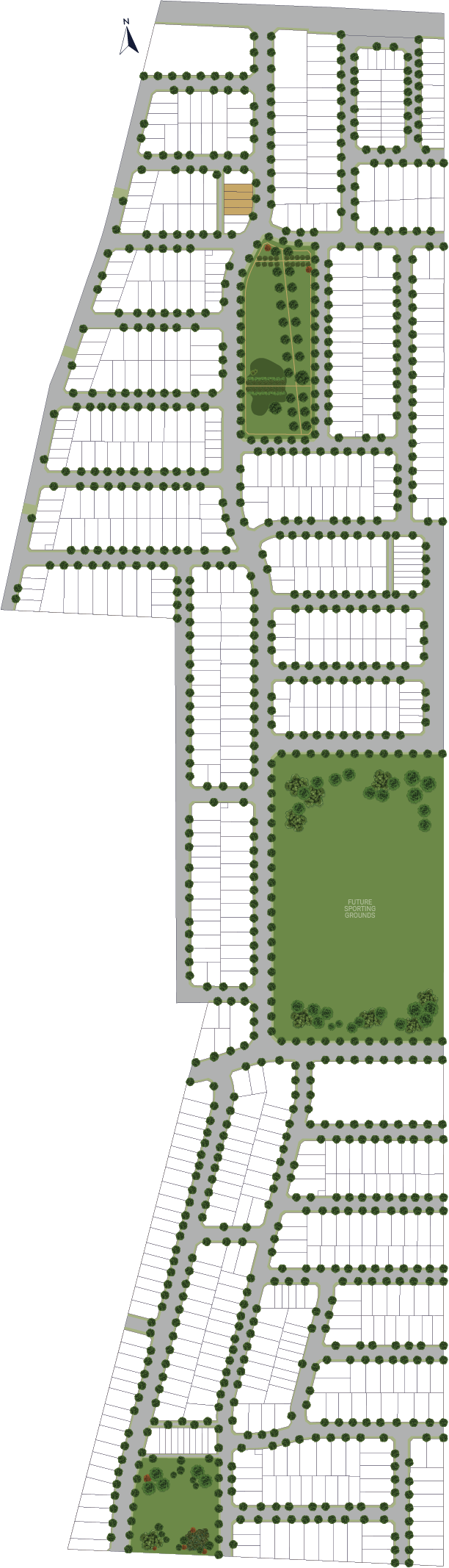 Aria Townhouse Release location in the masterplan at Olivia, Truganina